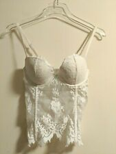 de37e89e89c Victoria s Secret I DO Bridal Bustier White Lace 34C back zipper NEW NWT