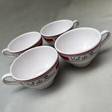 More details for vintage french traditional kitchen set 4 ceramic cider mugs, marked val de rance
