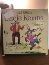 Vintage 1963 Walt Disney's Soundtrack of Song of the South Uncle Remus Lp Record