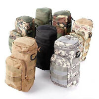 US Outdoor Tactical Water Bottle Military Pouch Holder Carrier Molle Kettle Bags