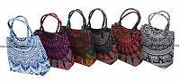 Indian Cotton Women Shoulder Bag Handbag Satchel Purse Lady Ethnic Mandala Tote