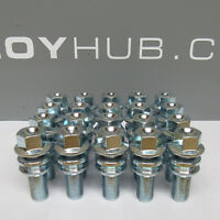 BRAND NEW PORSCHE CAYENNE SILVER ALLOY WHEEL BOLTS (X20) NUTS