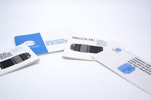 Minolta Standard Lens Guide Book Md Lenses Guide SRT X Xd Xg