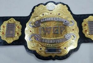 IWGP Heavyweight Wrestling Championship Belt Leather Thick Plates Replica Adults