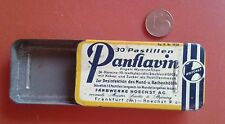 Vintage Tin Tablets Empty Panflavin Farbwerke Hoechst Frankfurt alte Blechdose