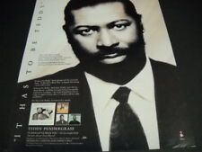 Teddy Pendergrass It Has To Be Teddy. Original 1991 Promo Poster Ad mint cond