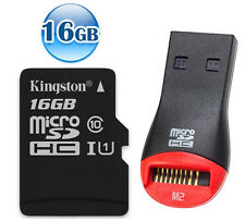 KINGSTON 80MB/s* CLASS 10 micro SDHC 16GB 16G micro SD Flash Memory Card UHS-I +