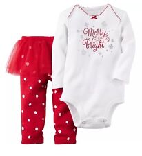 Carters Merry & Bright Holiday Tutu Outfit Set 2PC Infant Girls 3 Months NWT
