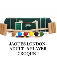 JAQUES LONDON- ADULT 6 PLAYER CROQUET SET