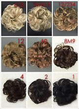 1pc Hair Scrunchies With Elastic,Dance Hair,Messy Bun Looking,9Colours Available