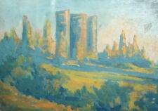 Impressionist landscape oil painting signed