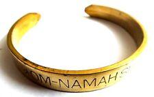 OM NAMAH SHIVAY SHIV Engraved in English Cuff Bracelet Wristlet Kada Bangle Yoga