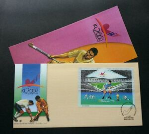 FREE SHIP 10th Men Hockey World Cup 2002 Malaysia Games Sport (Imperf FDC) *rare