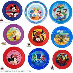 TODDLER CHILDRENS DISNEY PLASTIC DINNER PLATES MICKEY MINNIE PJ MASK PAW PATROL