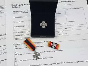 Set Bundeswehr Veteranenabzeichen im Etui Bandspange Miniatur SONDERPREIS