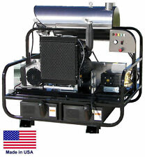 Pressure Washer Diesel Hot Water - Skid Mounted - 8 Gpm 3500 Psi - 24 Hp 12V