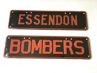 ESSENDON BOMBERS AFL NOVELTY NUMBER LICENSE PLATE WALL SIGN GIFT (SET OF 2)