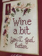 """Sue Hills Designs """"Wine A Bit...."""" Includes Fabric And Threads"""