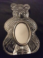 WATERFORD CRYSTAL GIFTWARE TEDDY BEAR PICTURE BABY FRAME DESK~IRELAND