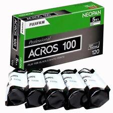 5 Rolls FUJI ACROS NEOPAN100 120 Black&White Professional film Fresh 2019