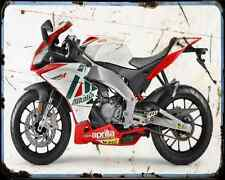 APRILIA Rs4 50 13 01 A4 Metal Sign moto antigua añejada De