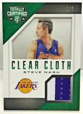 Steve Nash 2014-15 Totally Certified Clear Cloth GREEN 2 color GU Patch #'d 1/5