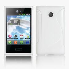 Marco De Protección Cubierta Trasera Carcasa De Gel Para Teléfono Móvil Lg E400 Optimus L3 Blanco