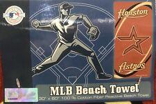 "Houston Astros MLB Authentic Collection Premium Beach Towel 30""X60"" 100% Cotton"
