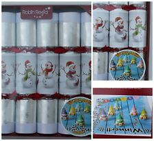 Robin Reed 6-pc Racing Snowman English Christmas Crackers Game Handmade NEW