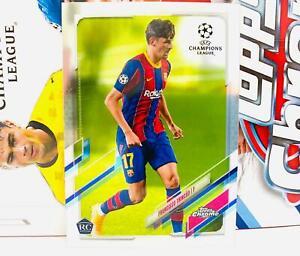 2020-21 Topps Chrome UEFA Champions League Francisco Trincao Barcelona RC Base