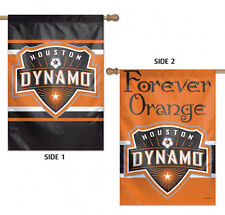 "Houston Dynamo Double Sided MLS House Flag Licensed Soccer 28"" X 40"""