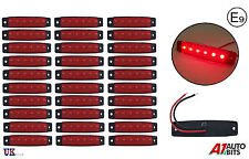 30 Pcs 24V LED Side Front Rear Marker Red Lights for Truck Man Daf Scania Volvo