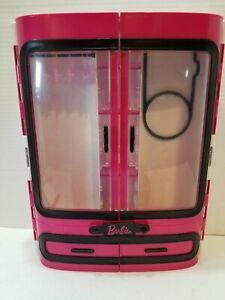 Barbie Pink Wardrobe Closet w/ Handle - Hard Plastic Carrying Case - 2015 Mattel