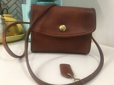 Vintage Coach Chrystie British Tan Leather Crossbody Bag Springlock 9892