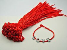 50 Braided Lucky Red String Rope Cord Bracelet 21cm for Charm
