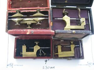 VINTAGE WATCHMAKERS DEPTHING GUAGE & OTHER TOOLS ALL IN ORIGINAL BOXES