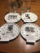 Exclusive Desilu I Love Lucy Set of 4 Polka Dot Plates VIACOM Store