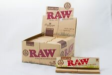 Full Box (24) Raw Organic Connoisseur King Size Rolling Papers With Tips