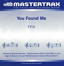 Mastertrax Music CD You Found Me With Lyrics & lead Sheet Induced 3 Key FFH