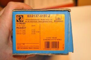 Bremsbacken von ATE für Citroen ZX ab 03.91- und Peugeot 205/306/309 01.83-  NOS