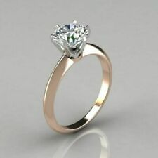 Wedding Ring 14K Rose Gold Filled New listing Solitaire Diamond 1Ct White Round Engagement