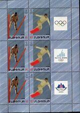 SLOVENIA 2006 WINTER OLYMPICS/TURIN/SKI JUMPER/SNOWBORDER/SPORT mini-sheet