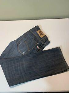PARASUCO Men Denim Jeans Blue Straight Distressed Size 33 x32