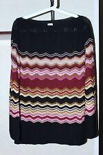 M Missoni Cardigan Sweater 51 % Merinos Wool Beautiful Colors Size 44 Italy