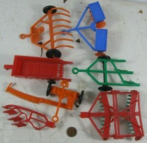 Lot of Vintage 1960's Soft Plastic Tractor Accessories