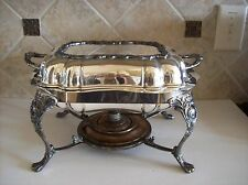 Vintage/Antique? Chaffing Silver Plated Serving Dish w/Warmer Buffet