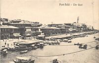POSTCARD    EGYPT   PORT  SAID   The   Quai