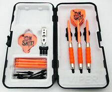 Orange Oh Sh*t Standard Rubberized Sure Grip Soft Tip Dart Set + Case 16 gram -3