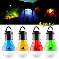 4Pack LED Portable Camping Tent Lamp Emergency Hiking Outdoor Light Lantern Bulb