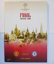 2008 UEFA Champions League MANCHESTER UTD vs CHELSEA FINAL OFFICIAL PROGRAMME